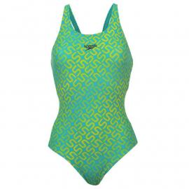 Plavky Speedo Mono Muscle Back Ladies Adriatic/Lime