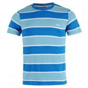 Tričko Lee Cooper YD Stripe T Shirt Mens Blue/Sky