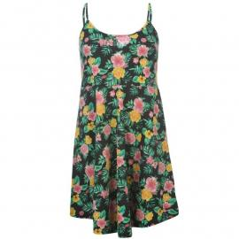 Šaty Lee Cooper All Over Print Dress Ladies Black Tropical