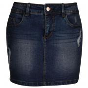 Sukně JDY Champ Low Destroy Skirt Denim Blue