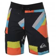 Plavky Quiksilver ST Compilation Shorts Mens Black/Orange