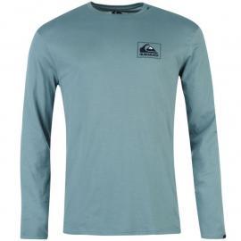 Quiksilver Check Box T Shirt Mens Petrol