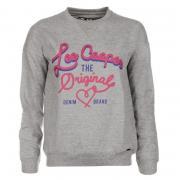 Mikina Lee Cooper Print Crew Sweater Ladies Grey Marl