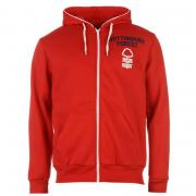 Mikina Source Lab Nottingham Forest Zip Hoody Mens Red