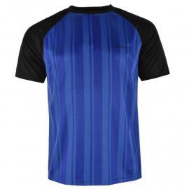 Donnay Poly T Shirt Mens Royal/Black
