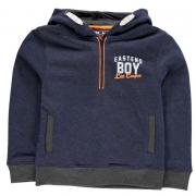 Mikina Lee Cooper Over The Head Hoody Junior Boys Denim Marl