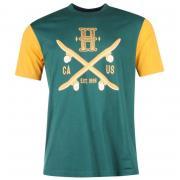 Tričko Tony Hawk Cross TShirt Mens Green/Gold