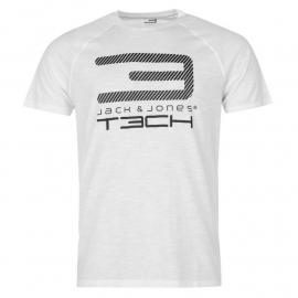 Tričko Jack and Jones Tech 2NF Graphic T Shirt Mens White