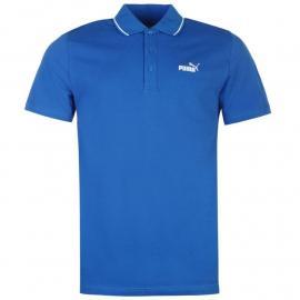 Puma No 1 Logo Pique Polo Shirt Mens Blue/White