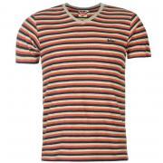 Tričko Lee Cooper Yarn Dye V Neck T Shirt Mens Red/Navy/Ecru