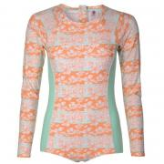 Plavky Hot Tuna Long Sleeve Swimsuit Womens Coral/Mint AOP