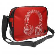 Dunlop Headphones Messenger Bag Red/Grey