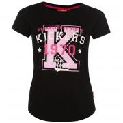 Kickers Print T Shirt Ladies Black