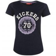 Kickers Print T Shirt Ladies Navy Marl