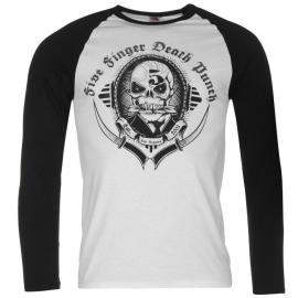 Tričko Official Five Finger Death Punch Raglan T Shirt Mens Los Angeles