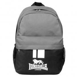 Lonsdale Pocket Backpack Black/Charcoal