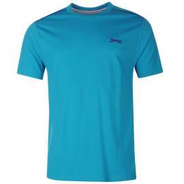 Slazenger Plain T Shirt Mens Teal