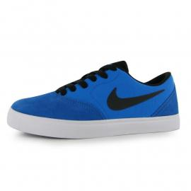 Nike SB Check Skate Shoe Junior Boys Blue/Black
