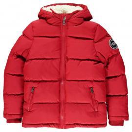 Bunda SoulCal 2 Zip Bubble Jacket Junior Boys Jester Red