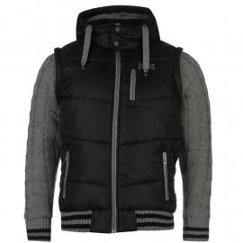 Bunda Everlast Knitted Sleeve Jacket Mens Black