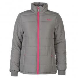 Bunda Lee Cooper Padded Jacket Ladies Grey/Pink