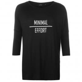 Tričko Golddigga Oversized Long Sleeve T Shirt Ladies Effort/Black