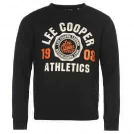 Mikina Lee Cooper Crew Logo Sweater Mens Black