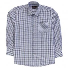 Košile Pierre Cardin XL Long Sleeve Checked Shirt Mens Navy/Blue Chk