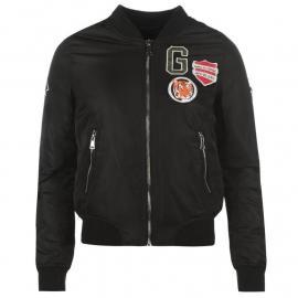 Golddigga MA1 Bomber Jacket Ladies Black Badge