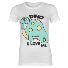 Tílko Goodie Two Sleeves Goodie Printed T Shirt Ladies Dino You