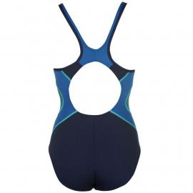 Speedo Fit Medallist Back Swimsuit Ladies Navy/Jade