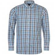 Košile Pierre Cardin C Check LS Sht S97 White/Blk/Sky