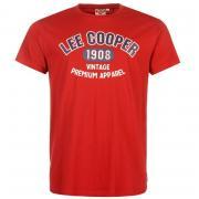 Tričko Lee Cooper Large Vintage Logo T Shirt Mens Vintage Red