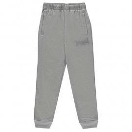 Lonsdale Poly Marl Joggers Junior Boys Grey Marl