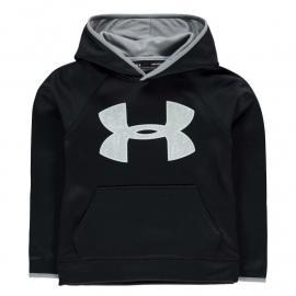 Mikina Under Armour Big Logo Over The Head Hoodie Juniors Black