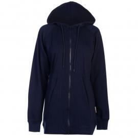 Mikina s kapucí Lee Cooper Longline Panelled Sweater Ladies Navy