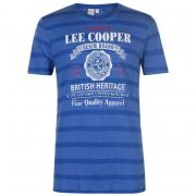 Tričko Lee Cooper Logo T Shirt Mens Royal