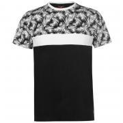 Tričko Pierre Cardin Cut Sew Palm Tee Mens Black