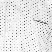 Pierre Cardin Slim Fit Geometric Print Shirt Mens White Polka
