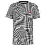 Tričko Airwalk Check Print T Shirt Mens Black/White