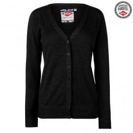 Svetr Lee Cooper Soft V Neck Cardigan Ladies Black