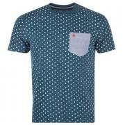Tričko Original Penguin Mens All Over Print T-Shirt Petrol