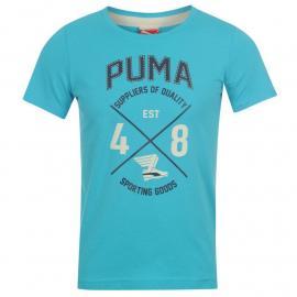 Tričko Puma QTT College T Shirt Junior Boys Blue