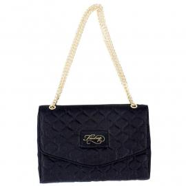Firetrap Quilted Clutch Bag Black/Gold