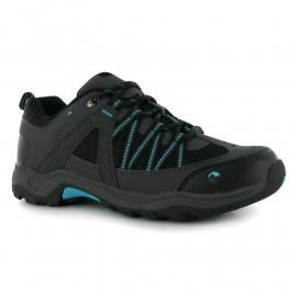 Gelert Ottawa Low Ladies Walking Shoes Charcoal/Teal