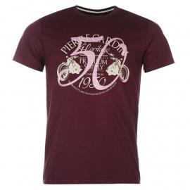 Tričko Pierre Cardin Print T Shirt Mens Dark Purple