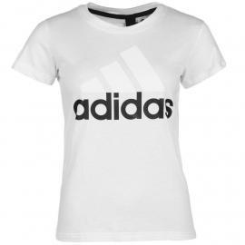 Adidas Linear QT T Shirt Ladies White/Black