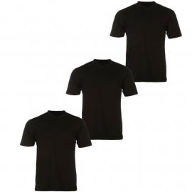 Tričko Donnay Three Pack V Neck TShirt Mens Black