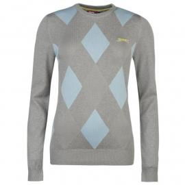 Svetr Slazenger Argyle Golf Jumper Ladies Grey/Blue