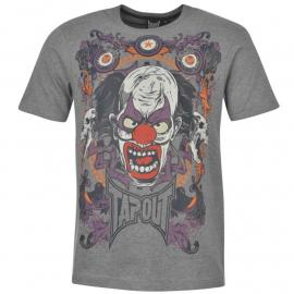 Tričko Tapout Clown T Shirt Mens Grey Marl